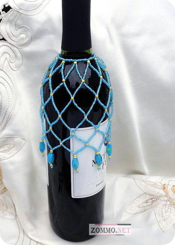 бутылка вина с украшением
