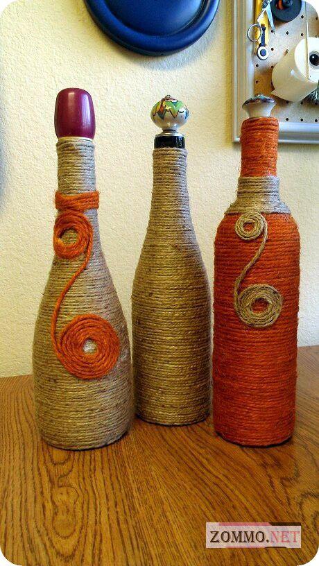 бутылки вина handmade