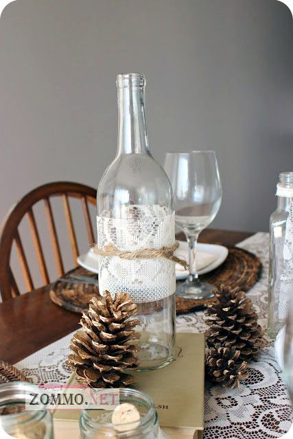 рождественская бутылка вина