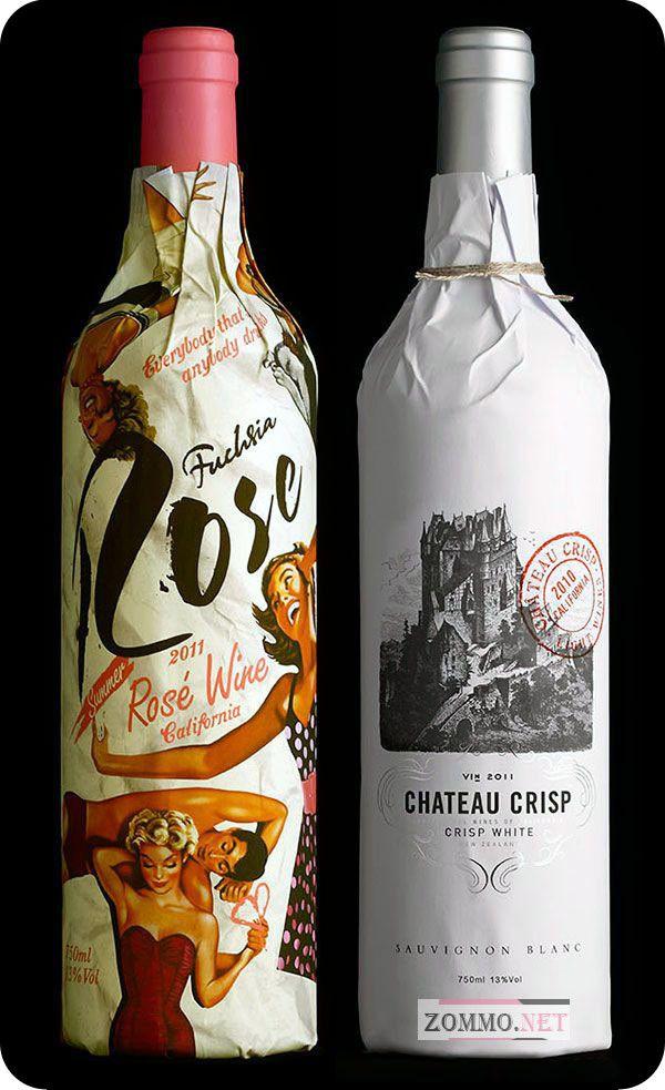 бутылка вина праздничная