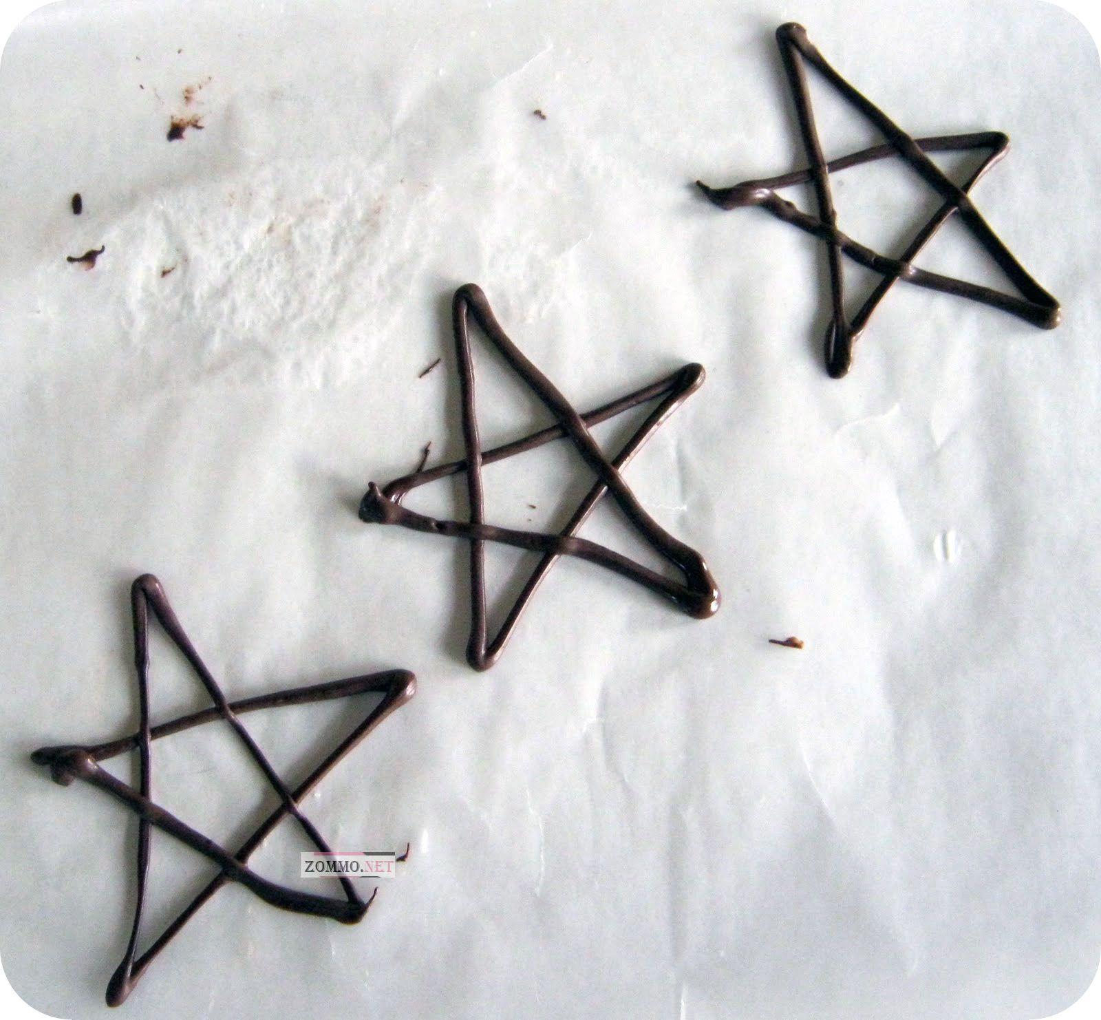 новогодние звезды из шоколада