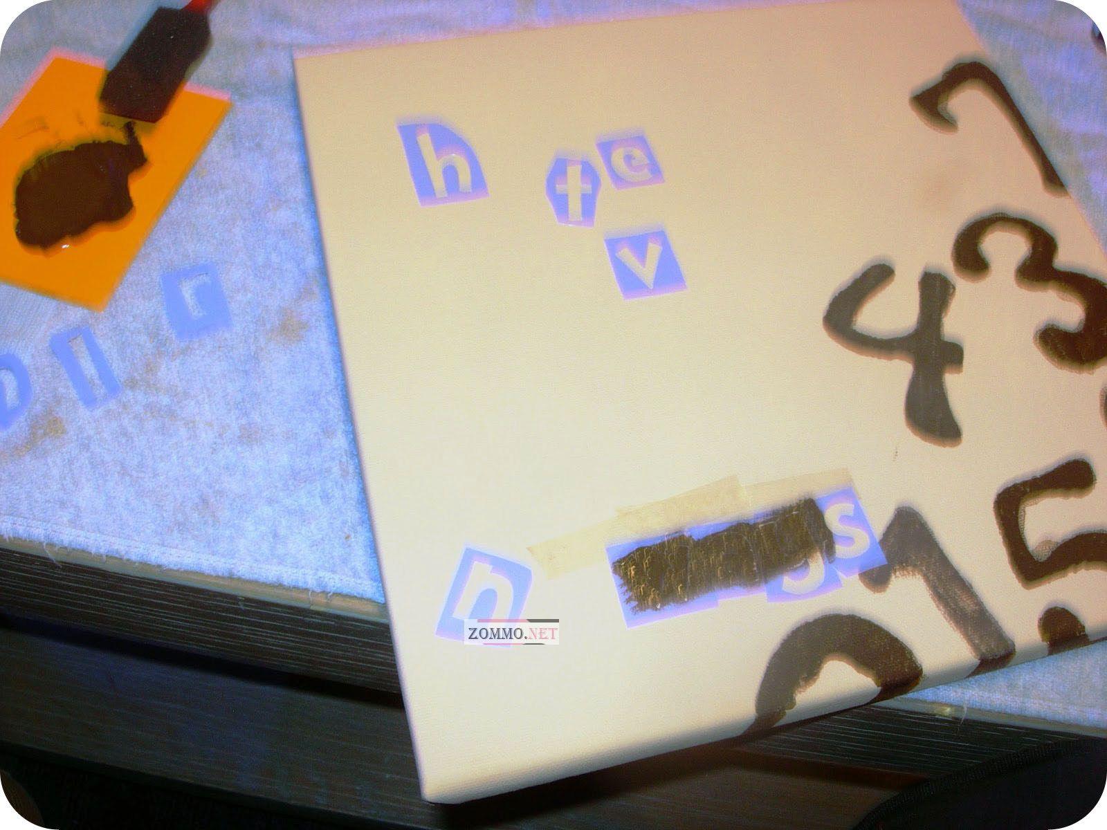 буквы через трафарет