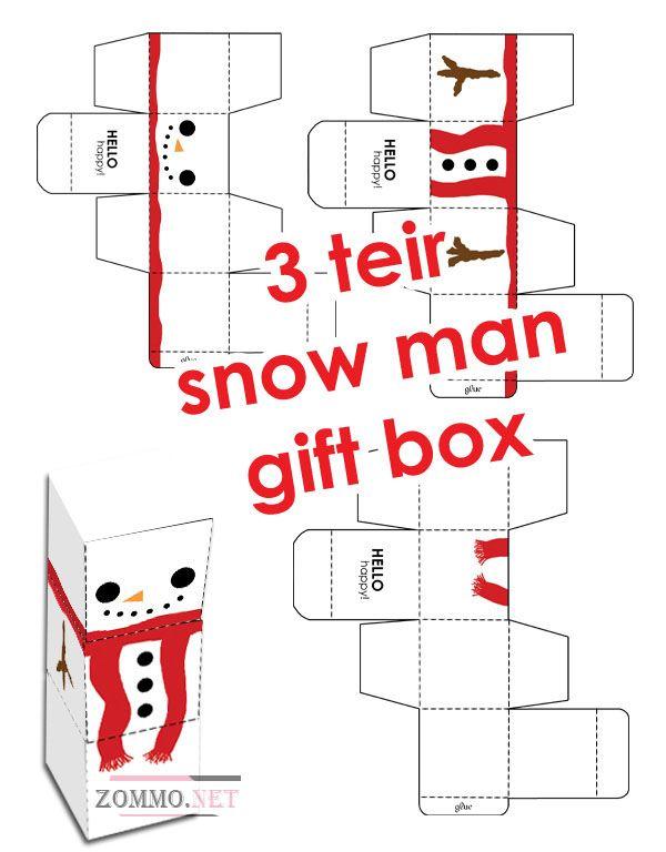 Коробочка новогодний снеговик своими руками