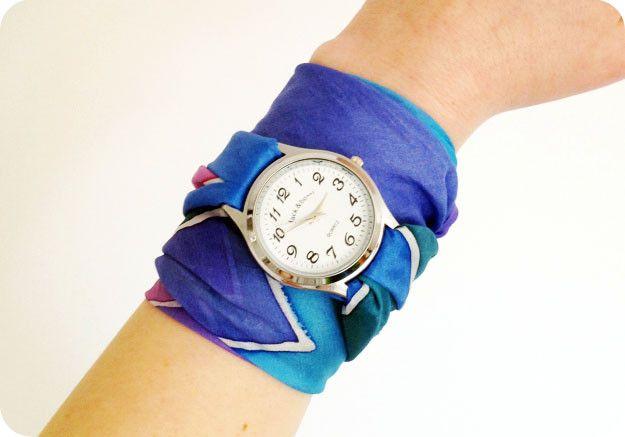 Как сделать ремешок для часов из ткани своими руками 57
