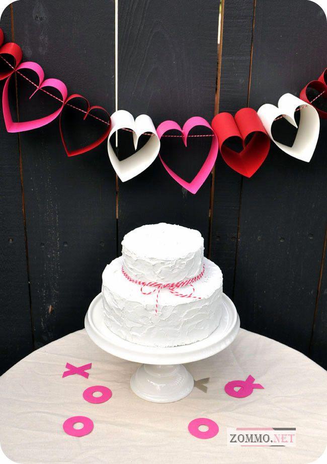 Торт и сердечки