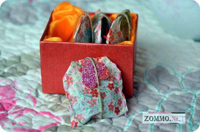 Подарочные пакетики чая на день святого валентина
