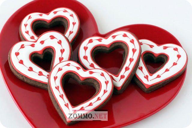 Сьедобное сердечко на день валентина