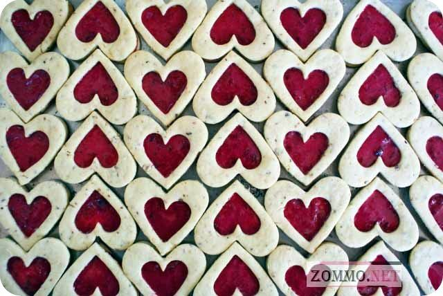 Печеньки-сердечки