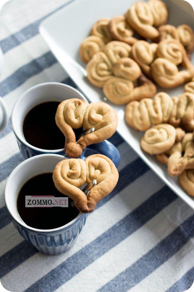 Печенье с кофе на день влюбленных