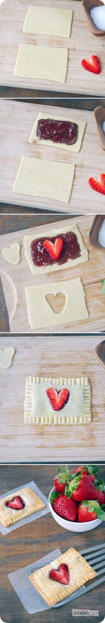 Печенье с клубникой и Nutella