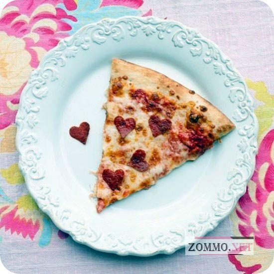 Сердцеобразная пицца Пепперони