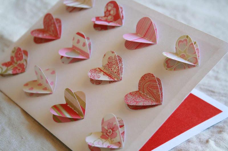 Объемная валентинка