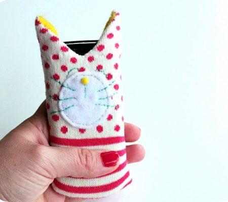 Чехол для телефона из носка своими руками
