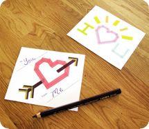 Детские валентинки из бумаги