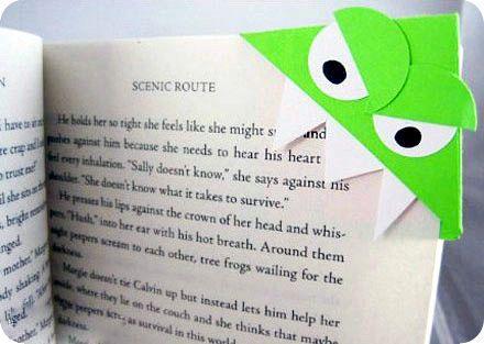 Закладки для книг из бумаги в виде монстров