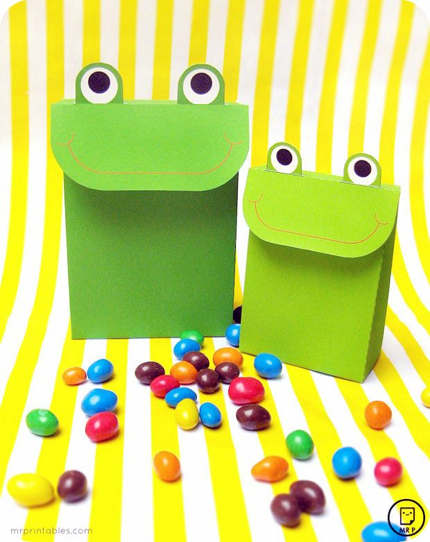 Подарочная коробка в виде лягушки своими руками