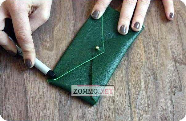 Чехол конверт для телефона из кожи своими руками