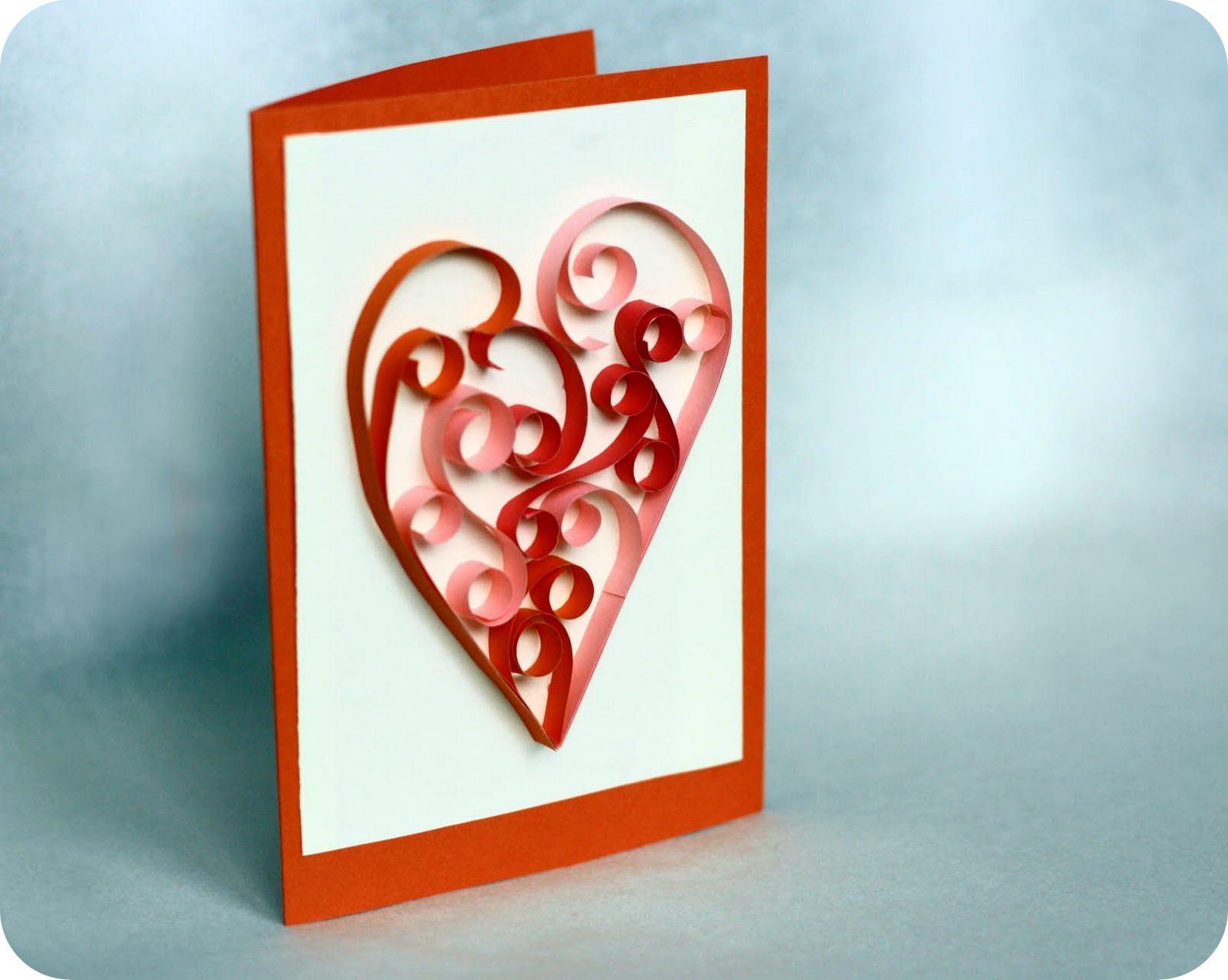 Подарок для мамы своими руками из бумаги открытка с объёмным сердечком 70