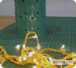 Как сделать лампу из гирлянд