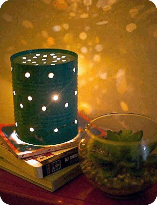 Лампа из гирлянд