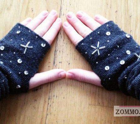 Митенки из гетр своими руками
