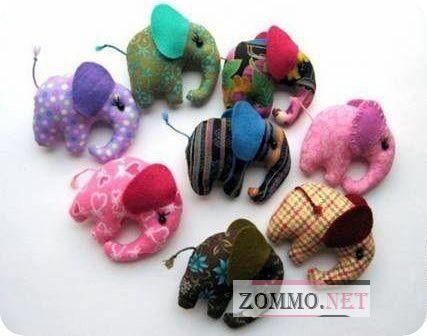 Мягкие игрушечные слоны из ткани своими руками