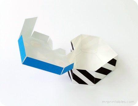 Объемная коробочка из бумаги шаблон