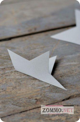Делаем маленькую звездочку оригами