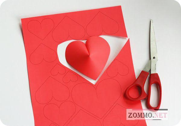 Материалы для создания объемного сердца