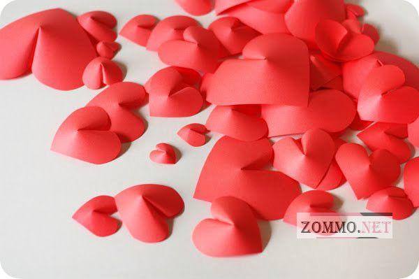 Объемные сердечки из бумаги своими руками