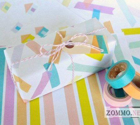 Оберточная бумага для подарков своими руками