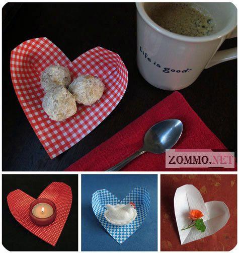 Оригами сердце на День святого Валентина