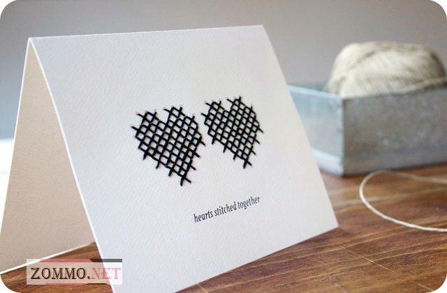 """Открытка-валентинка """"Два сердца вместе"""""""