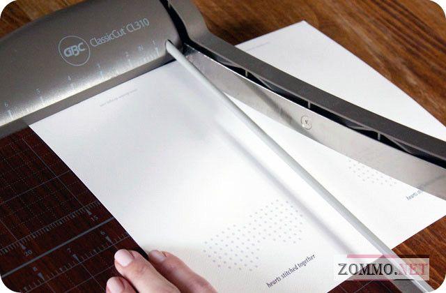 Разрезанный на 2 части лист