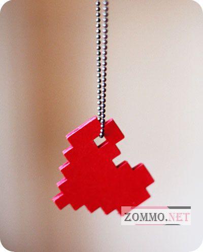 Как сделать ожерелье пиксельное сердце своими руками