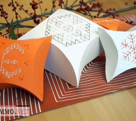 Коробка для подарка с красивым узором своими руками