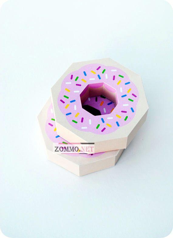 Упаковка для сладостей в виде пончика