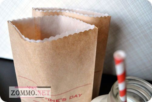 Бумажный пакет с принтом