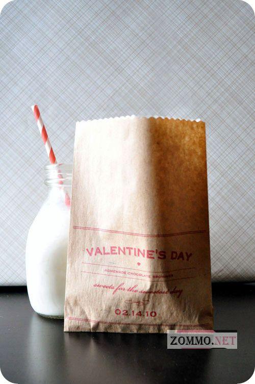 Принты на бумажные пакеты на День святого Валентина