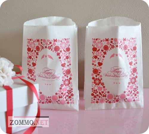 Бумажные пакеты на день святого валентина