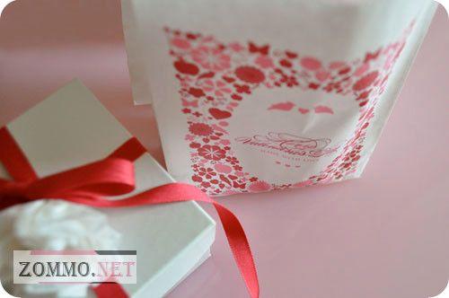 Бумажные пакеты на день влюбленных