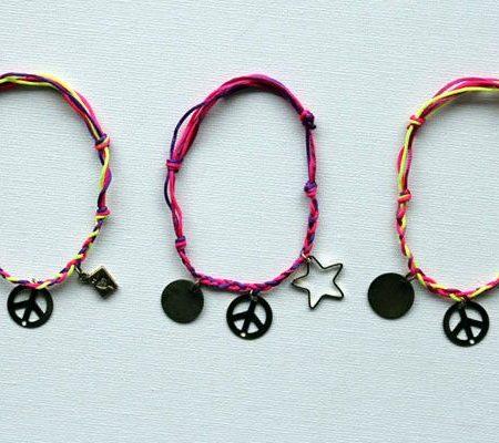 Простые плетеные браслеты своими руками
