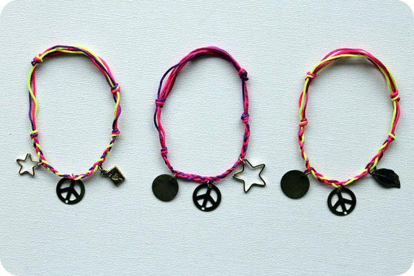Простой плетеный браслет своими руками