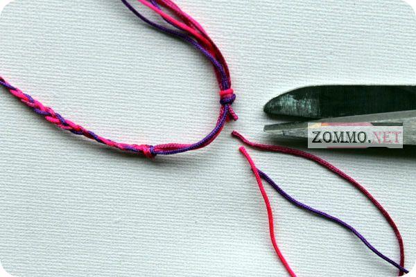 простой плетеный браслет