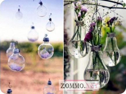 Цветы в лампочках