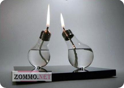 Светильники из лампочки