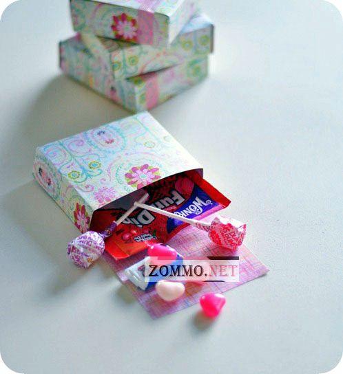 Коробочка из бумаги на день святого валентина