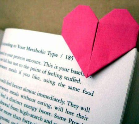 Закладка для книги в виде сердца своими руками