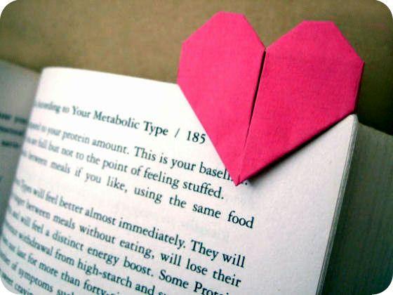 Закладка для книги в виде сердца