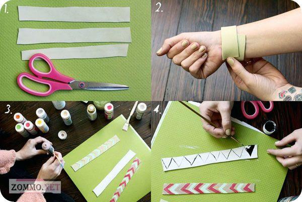 Как сделать браслет из кожи с узорами своими руками